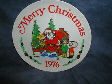 """CHRISTMAS 1976 """"DENNIS THE MENACE"""" BY HANK KETCHAM COLLECTOR PLATE"""