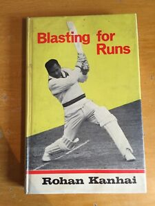 1966 Signed Rohan Kanhai Blasting for Runs 1st edition vgc West Indies legend