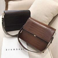 Small Faux Leather Single Shoulder Bag Crossbody Purse Satchel Messenger Bag