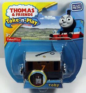 2015 Thomas & Friends Take-N-Play Diecast Metal Toby Engine CBL83 Damaged Box