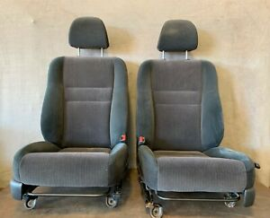 2003-2007 HONDA ACCORD Front Bucket Seats Left Right Seat Black Cloth Manual OEM