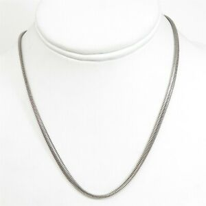 NYJEWEL 925 Sterling Silver 3mm Chain Necklace 16 Inches 14g