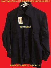 DSCP Guardian DARK Blue MILITARY Anchor LONG SLEEVE Button SHIRT Uniform MENS SM