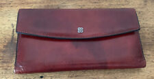 Bosca OxBlood Leather Bi-fold Wallet/Checkbook Organizer!