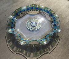 Mid Century Glass Dish with Rippled Edge