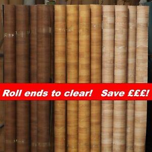 Camper Van Flooring - Industrial Heavy duty! Oak Wood Finish CLEARANCE ROLL ENDS