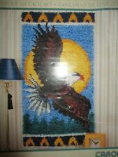 "New listing New WonderArt By Caron Latch Hook Kit - Eagle 16"" x 32"" Art # 4120"