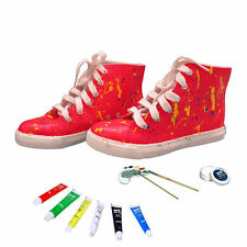 Girls Casual Sneakers Shoes Paintable & Erasable DIY Acrylic Craft Kit Gift New