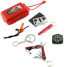 SOS Help Outdoor Sport Camping Hiking Survival Emergency Gear Tools Box Kit Set