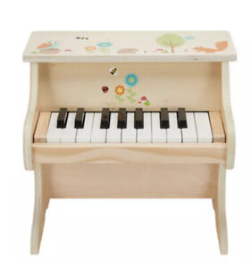 New Wooden Pretend Plat 18 keys piano kids toy musical toy