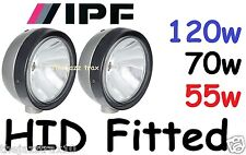 1pr ARB IPF Round Extreme Sport lights Fitted with H9 HID kit - 55w 70w or 150w