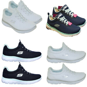 Womens Skechers Trainers Casual Shoes Summits Slip On Foam Walking Sneakers UK