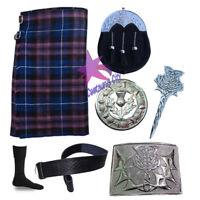 CC Scottish Pride of Scotland 8 Yard Kilt 16 OZ Thistle Cantle Sporran 7-Pcs Set