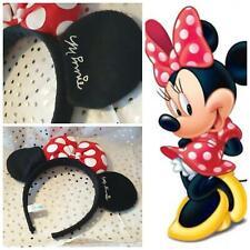 kids DISNEY ears Minnie mouse classic red bow Headband Costume 3d soft plush new