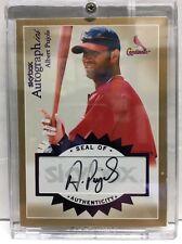 2004 Fleer Autographics A-AP Albert Pujols St. Louis Cardinals Auto 01/01