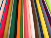 30 Colours -Polycotton Plain Solid Craft Fabric Material 45 inches Wide 115 Cms