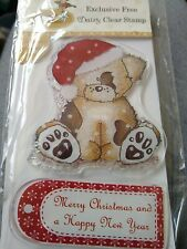 Daisy & Dandelion Christmas Puppy Stamp