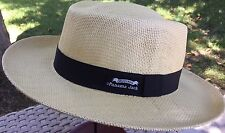 PANAMA JACK STRAW OPTIMO HAT GOLF SUN PROTECTION L/XL 59-61cm NATURAL COLOR