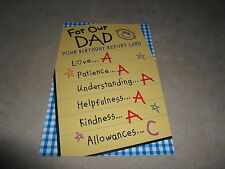 """To: Our Dad"" Birthday Card & Envelope By Hallmark Crown~7"" X 4 3/4"", BRAND NEW!"
