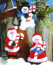 Felt Embroidery Kit ~ Design Works Candycane Friends Christmas Ornaments #DW5334