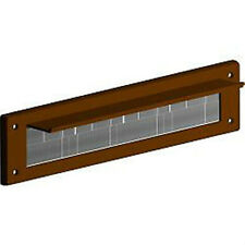 STORMGUARD BROWN  LETTER BOX BRUSH BRISTLE DRAUGHT EXCLUDER PVC WITH COVER FLAP