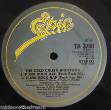 "COLD CRUSH BROTHERS ~ Punk Rock Rap ~ 12"" Single"