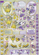 Flower Fairy Freestyle Dufex 3d Decoupage Card Making Paper Craft NO CUTTING REQ