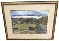 CAROL WEINSTOCK (AMERICAN, 1914-1971) COUNTRY SCENE WATERCOLOR