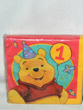 ~ WINNIE THE POOH  1 ST.  BIRTHDAY 16-DESSERT  NAPKINS PARTY  SUPPLIES