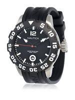 Orologio Uomo Nautica A15019G Scuba Acciaio Gomma Nero WR 100m Diver Mens watch