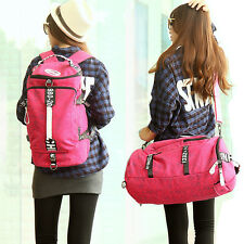 Women's Gym Sports Shoulder Bag Schoolbag Travel Backpack Rucksack Hand Luggage