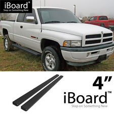 "iBoard Running Board Black 4"" Fit Dodge Ram 1500/2500/3500 Club Cab 94-01"