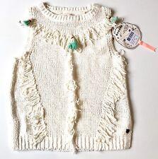 Scotch R'Belle Cream Tassel Fringe Knit Top .NWT Age 8 Retail $82 Price $39