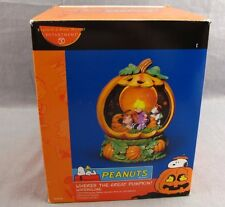 Peanuts Where's the Great Pumpkin Charlie Brown Halloween Snow Globe Dept 56
