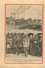 Pont Suspendu Saint-Denis-de-Pile Gironde/Exposition Coloniale 1931 ILLUSTRATION