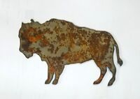 "6"" Buffalo  Animal Rusty Rustic Vintage Metal Wall Art Craft Sign"