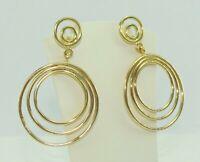 Damen Ohrringe Ohrhänger / 750er - 18 Karat Gelbgold