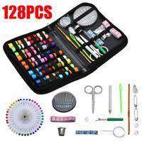 128pcs Mini Sewing Kit Home Travel Scissors Needle Thread Portable Sewing Tool