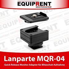 Lanparte MQR-04 mini Zubehör Quick Release Adapter f. Blitzschuh Anschluss EQ517