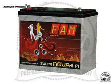 FAM 55 SUPERNOVA HI-FI Batteria AGM Auto 12 V 55A 750A Alto Spunto SPL STEREO SQ
