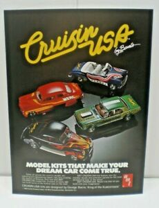 "AMT Original 1980 ""Cruzin USA Series by Barris"" single sided color Dealer Flyer"