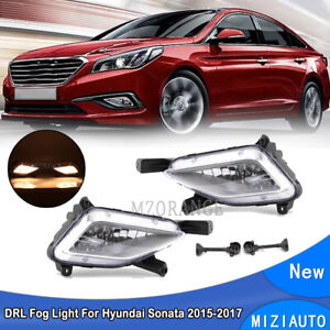 Pair Fog Light For Hyundai Sonata 9th 2015-2017 Daytime Running Lamps Left Right