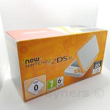 New Nintendo 2DS XL White and Orange Handheld Console