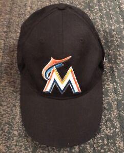 Men's MIAMI MARLINS BABE RUTH BASEBALL MLB Logos Hat, Adjustable Strap, GUC