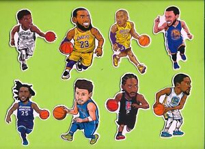 16 Different NBA Basketball Superstars Vinyl Stickers  - LeBron + Free Shipping