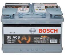 Autobatterie Bosch S5 A08 - 12 V / 70 Ah - 760 A/EN AGM KFZ PKW Batterie