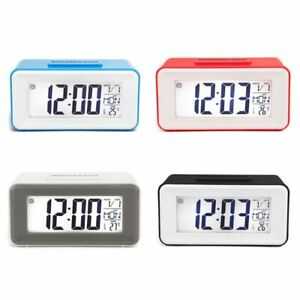 Smart Digital LED Alarm Clocks With Week Snooze Table Thermometer LCD Timer Desk