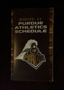 2010-11 Purdue Boilermakers Athletics Schedules - Football, Volleyball & Soccer
