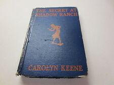 The Secret at Shadow Ranch by Carolyn Keene vintage 1931 Grosset & Dunlap hb