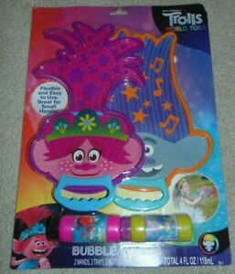 ~NEW Girls DREAMWORKS TROLLS WORLD TOUR Big Bubble Wands! Super Cute!! FS:)~